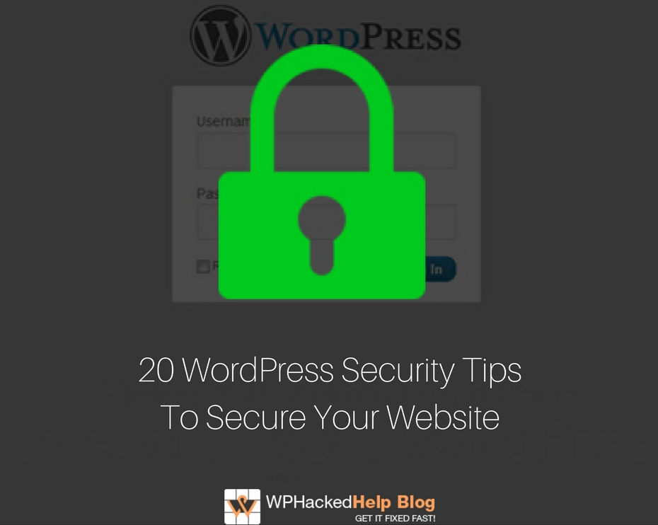 WordPress Security Tips 2019