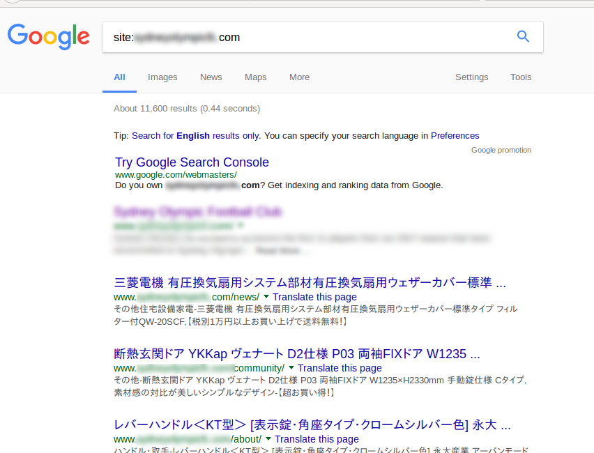 Wordpress Japanese Keyword Hack Search