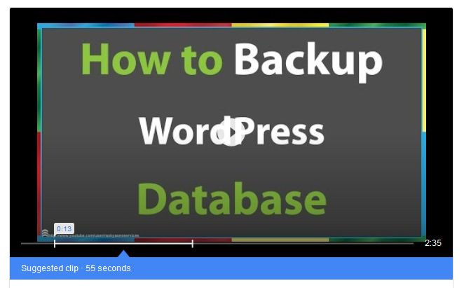 Backup WordPress Database cPanel