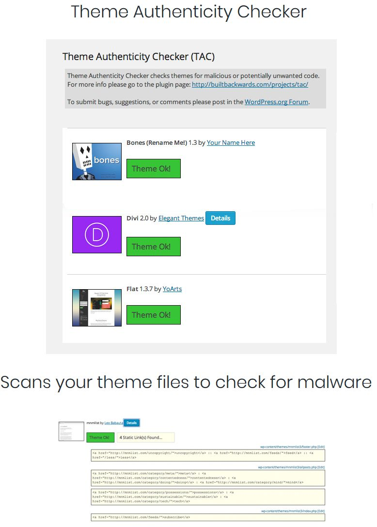 Scan Your WordPress Theme For Hidden Malicious code.