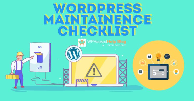 WordPress Website Maintenance Tasks & Checklist
