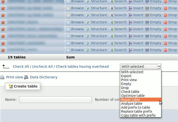 corrupted-db-phpmyadmin-repair-table