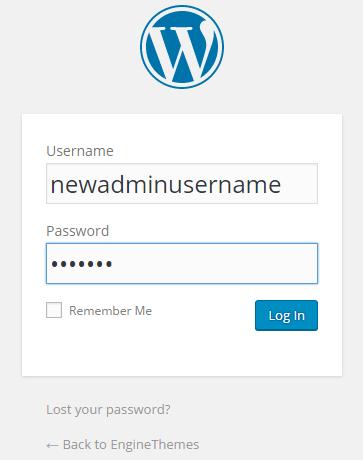 change usernames in WordPress