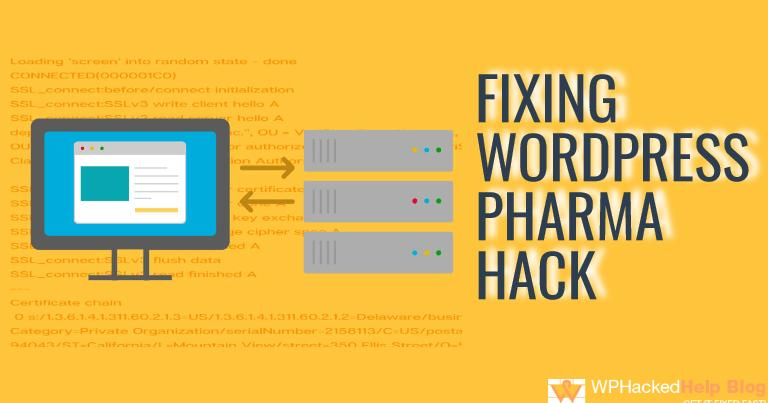 Fix WordPress Pharma Hack
