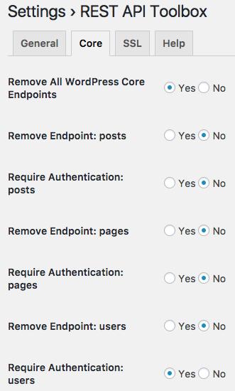 REST API Toolbox – WordPress plugin