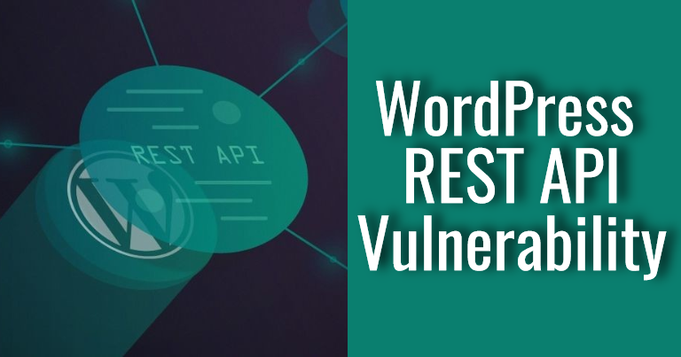 Fix WordPress REST API Vulnerability Content Injection Exploit