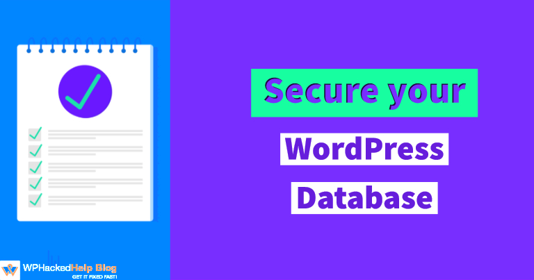 WordPress Database security