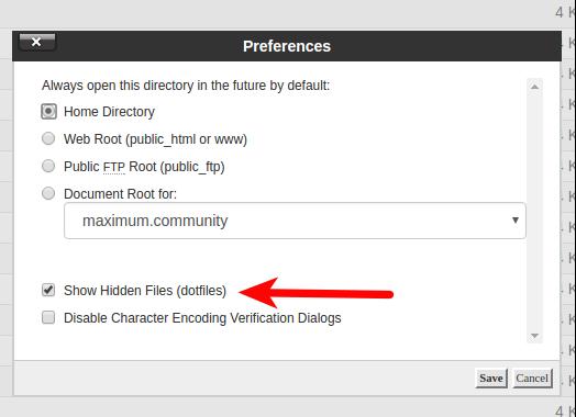 cpanel_Disable maintenance mode via FTP