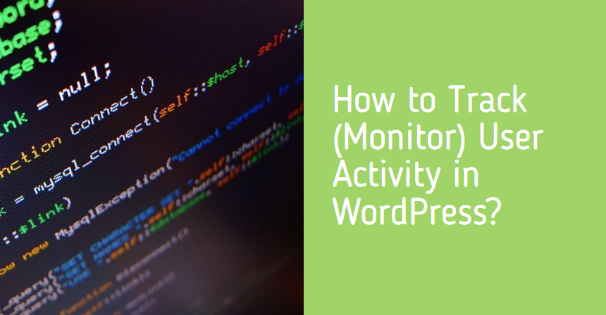 How to Track/Monitor User Activity in WordPress