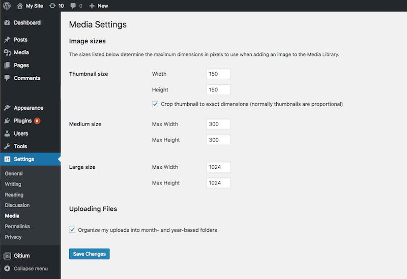 Remove Custom Media Library Paths settings