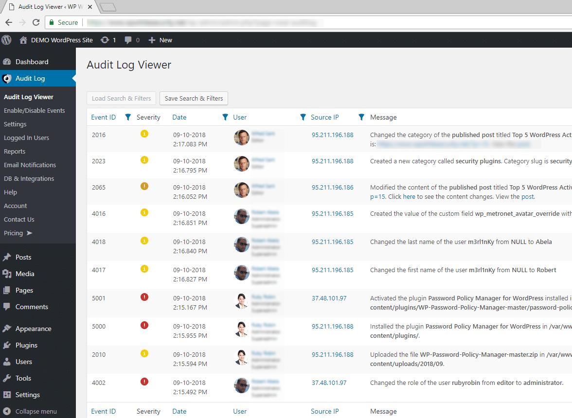 wordpress track user page views