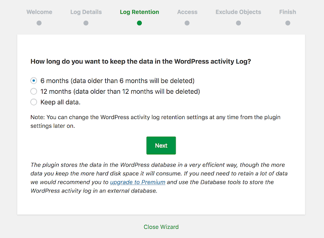 wp security log plugin to track user activity wordpress
