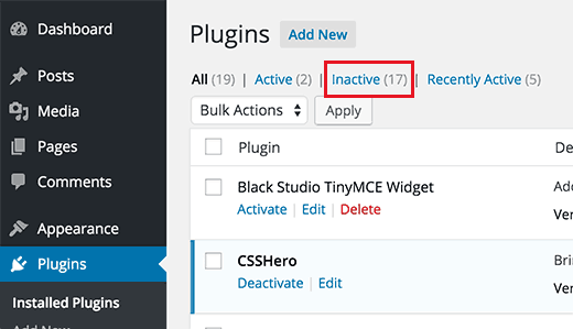 Disable all your plugins