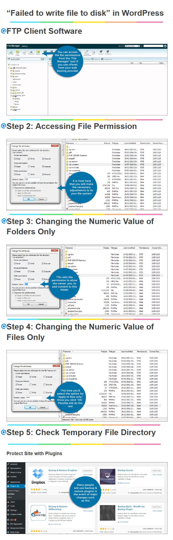 Steps to Fix failed to write file to disk error WordPress