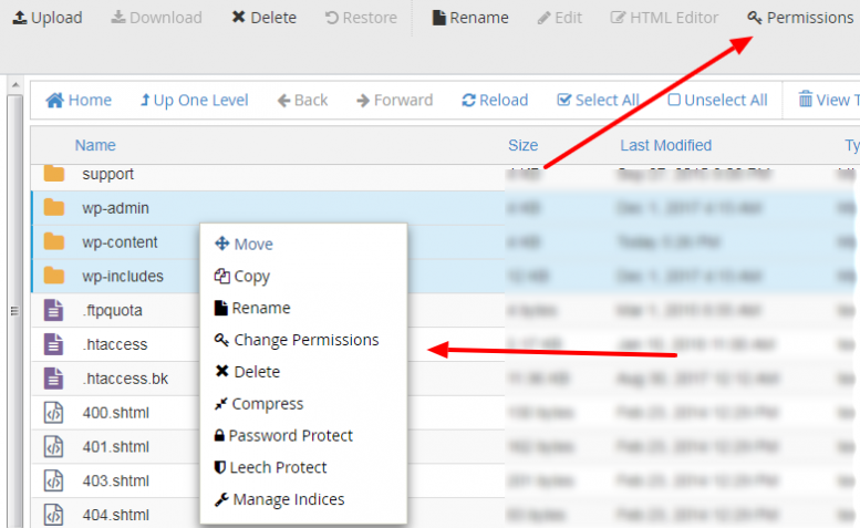 Use cPanel to Fix File and Folder Permission Error