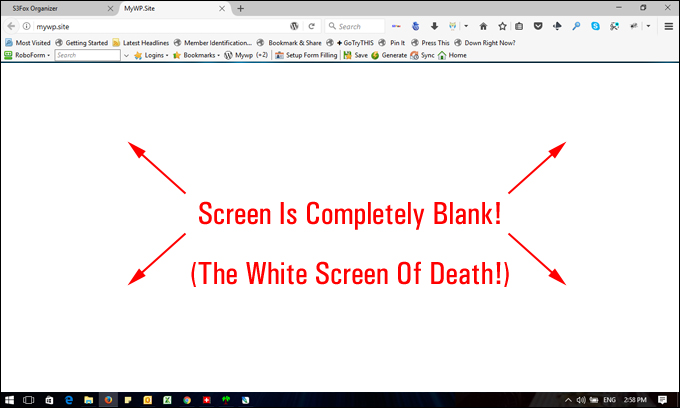 What is White Screen of Death - WSoD Error
