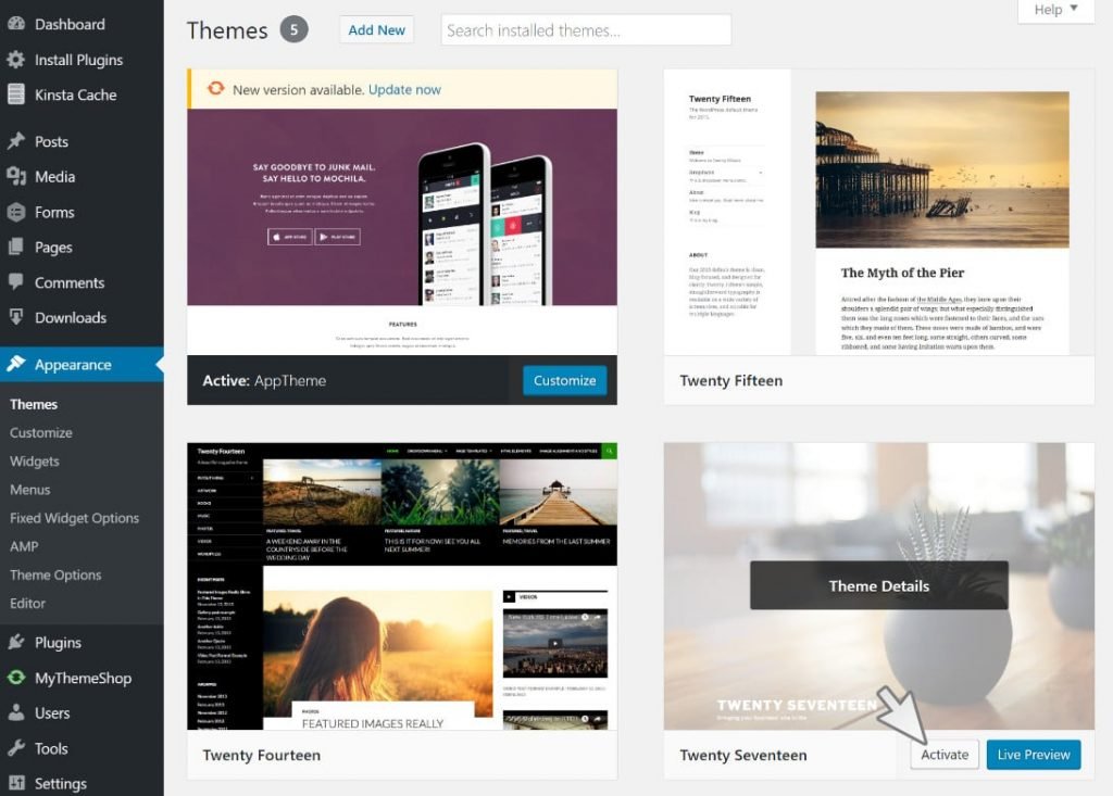 switch-default-wordpress-theme-temporarily